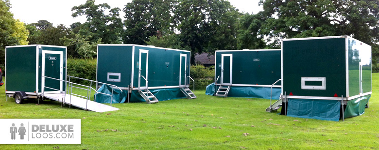 The deluxe loos service luxury portable toilets luxury Deluxe portable bathrooms
