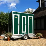1+1 Compact Luxury Portable Toilets (Exterior) on Hire in Wokingham, Berkshire